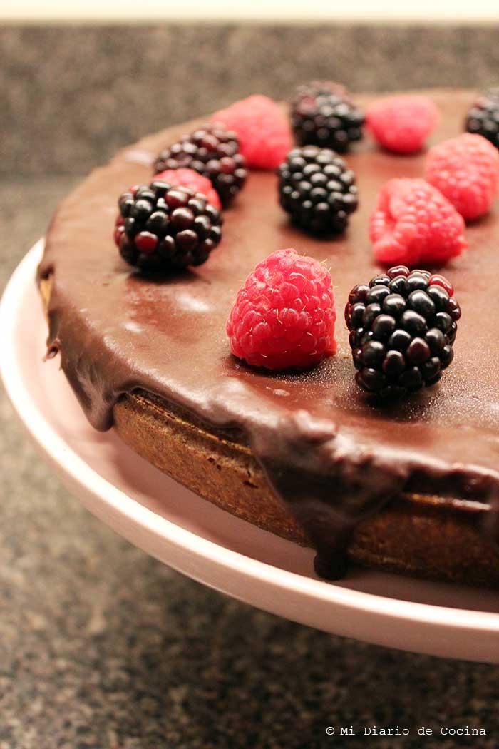 Pastel de chocolate sin gluten