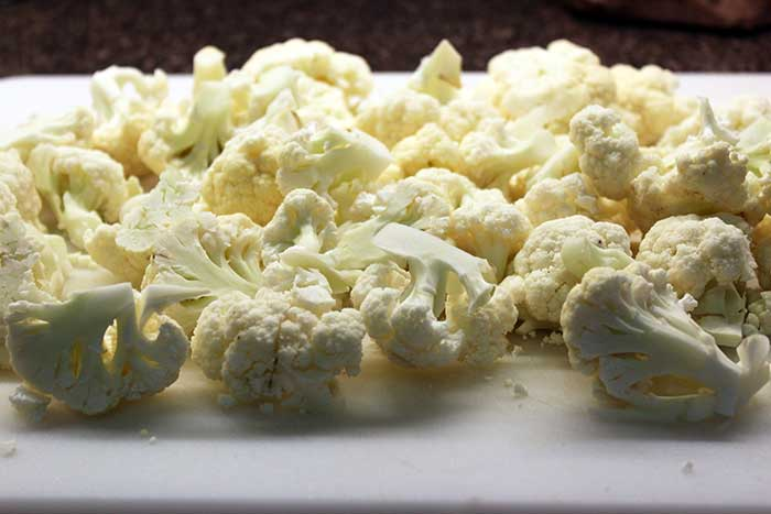 Cauliflower soup - Chopped cauliflower