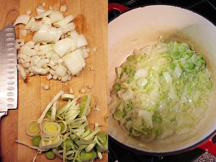 Sopa de coliflor - Preparación