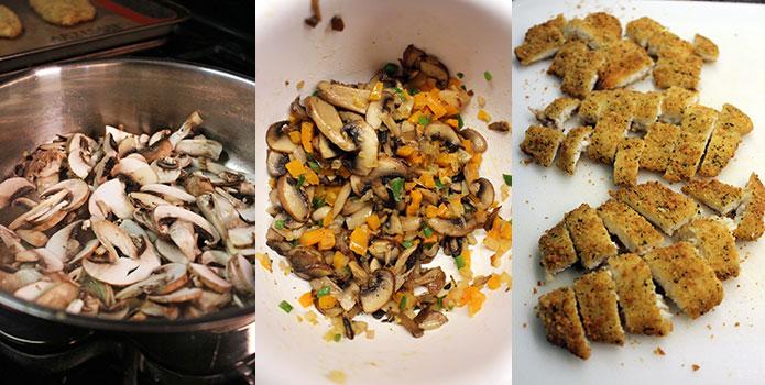 Enchiladas de pescado y salsa roja - Preparación