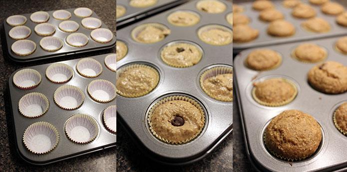 Muffins de avena - Preparación