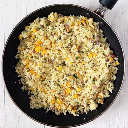 Couscous with mango