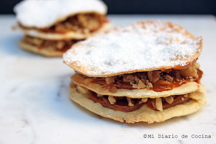 Chilean pastry of dulce de leche and walnuts from Curico