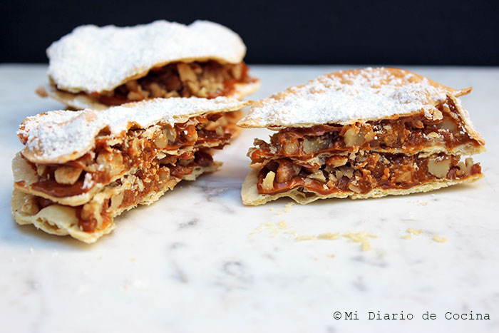 Torta curicana manjar nuez
