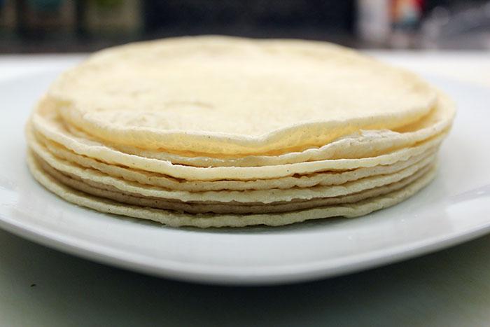 Enfrijoladas - Tortillas