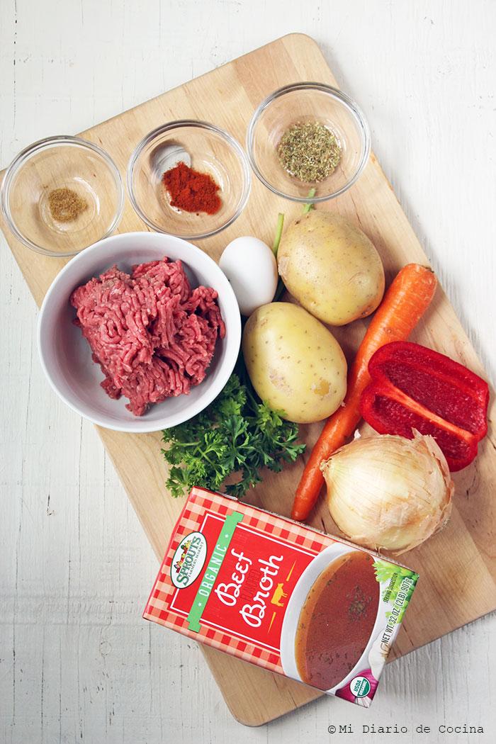 Pantrucas - Ingredients