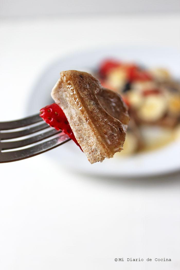 Waffles integrales con chia
