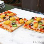 Pizza tropical a la parrilla