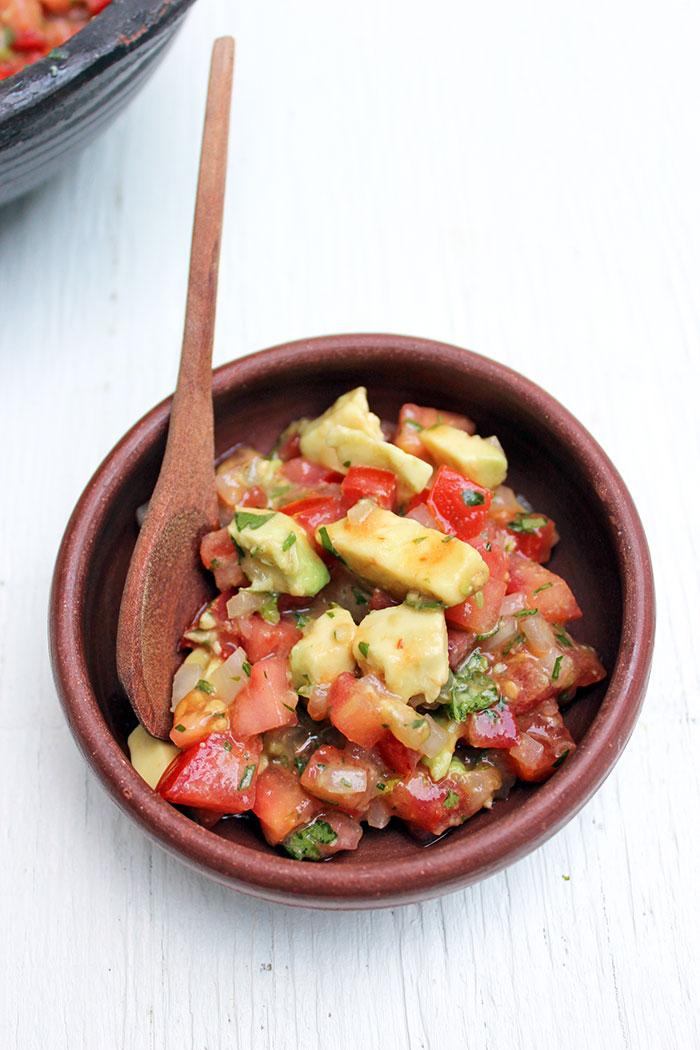 Pebre Sauce with Avocado