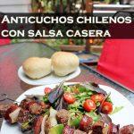 Anticuchos chilenos con salsa casera