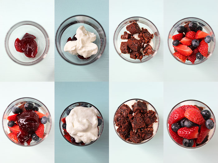 Brownie parfait - Step by step
