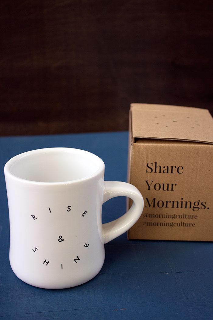 Morning Culture Rise & Shine Diner Mug