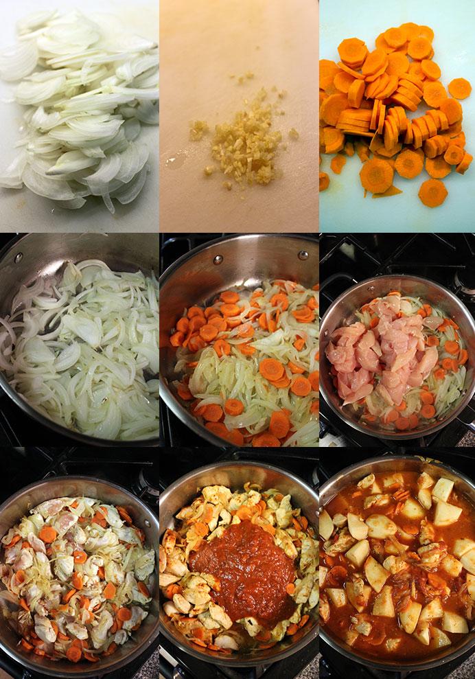 Estofado de pollo - Preparación