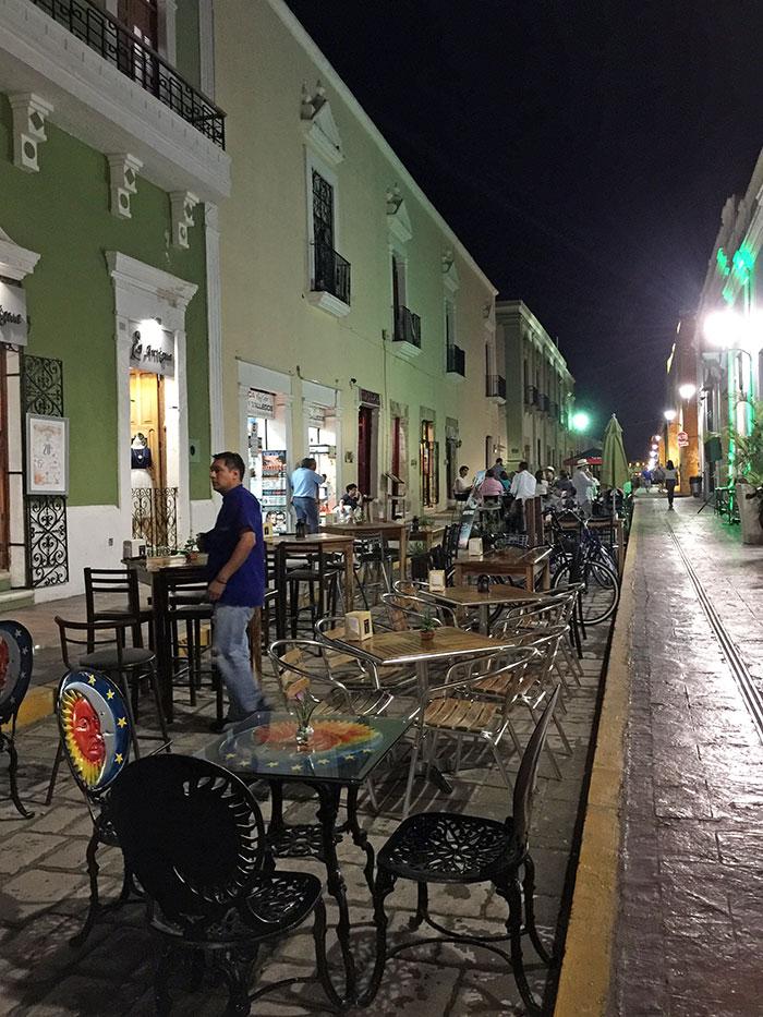 Calle 59, ciudad de Campeche, México