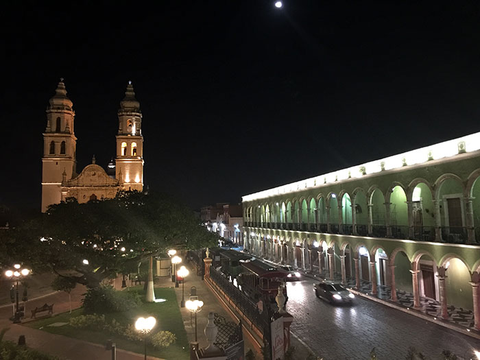 Cathedral from the city of Campeche, México