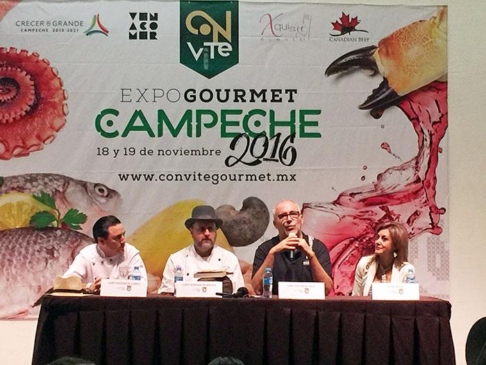 Convite ExpoGourmet Campeche 2016, México - Conferencia de prensa