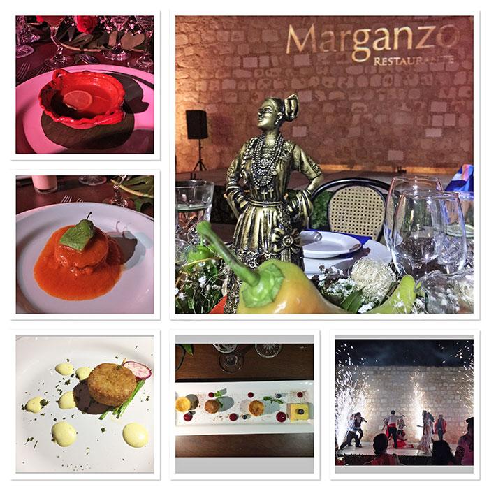 Cena en Restaurante Marganzo, Campeche, México