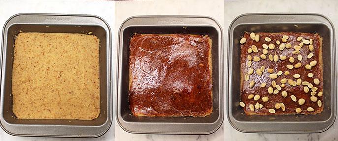 Snickers, versión saludable - Preparación