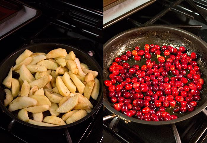 Crostata de manzana y cranberry