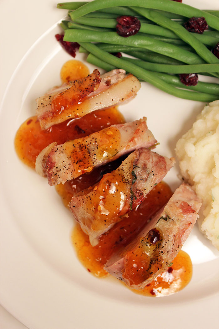 Pork Loin with Apricot Sauce