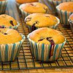 Muffins de arándanos saludables