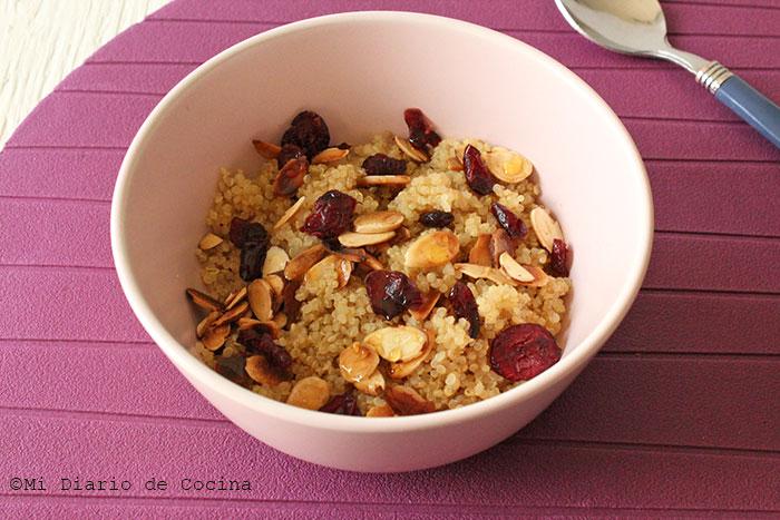 Almond quinoa with cranberries