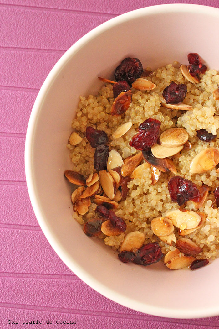 Almond quinoa with cranberries