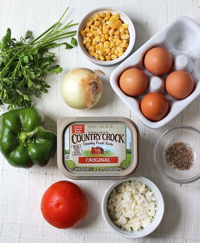 Baked eggs with vegetables - Ingredients