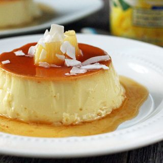 Pineapple and coconut flan