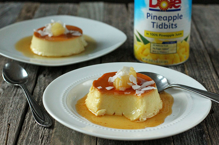 Pineapple and coconut flan – Mi Diario de Cocina