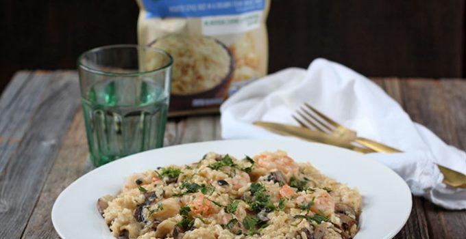 Garlic Shrimp Risotto with Mushrooms