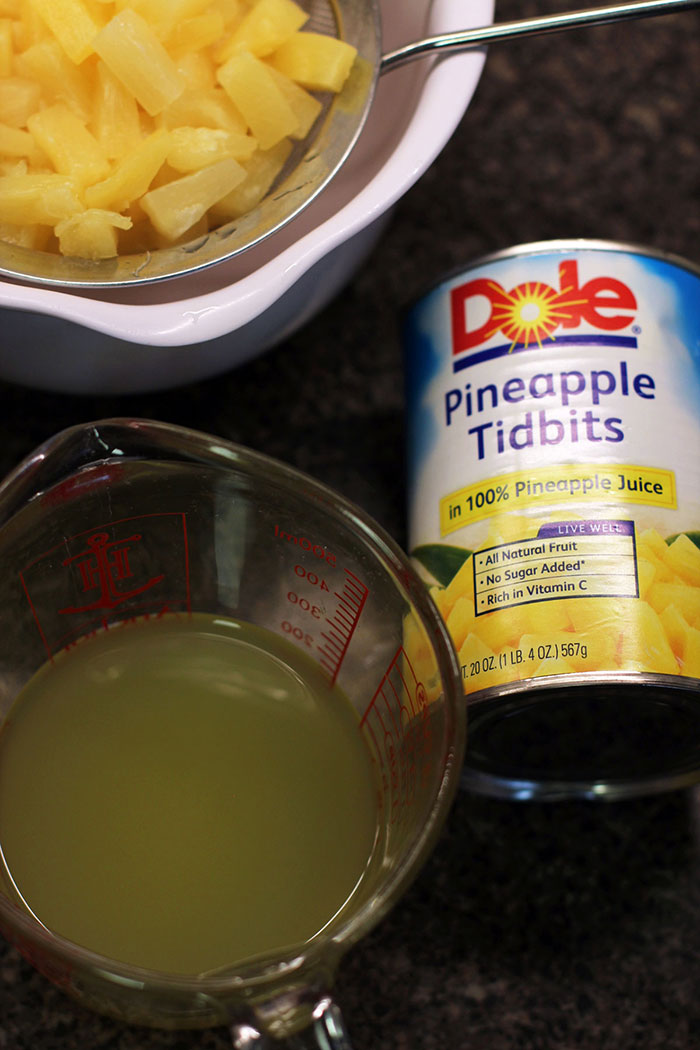 Pineapple and coconut flan - DOLE Pineapple Tidbits