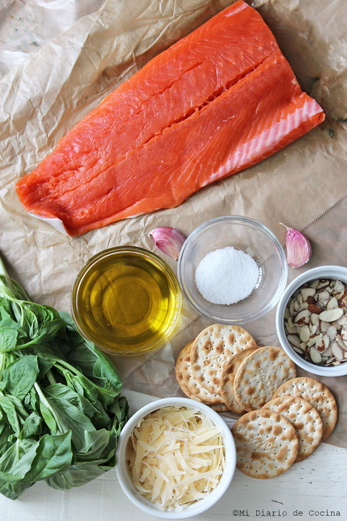 Salmon from Alaska with pesto - Ingredients