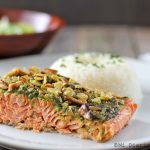 Salmon from Alaska with pesto