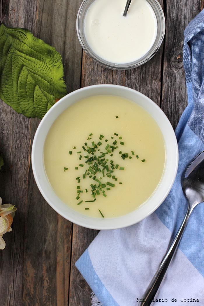 Sopa de puerros y papas