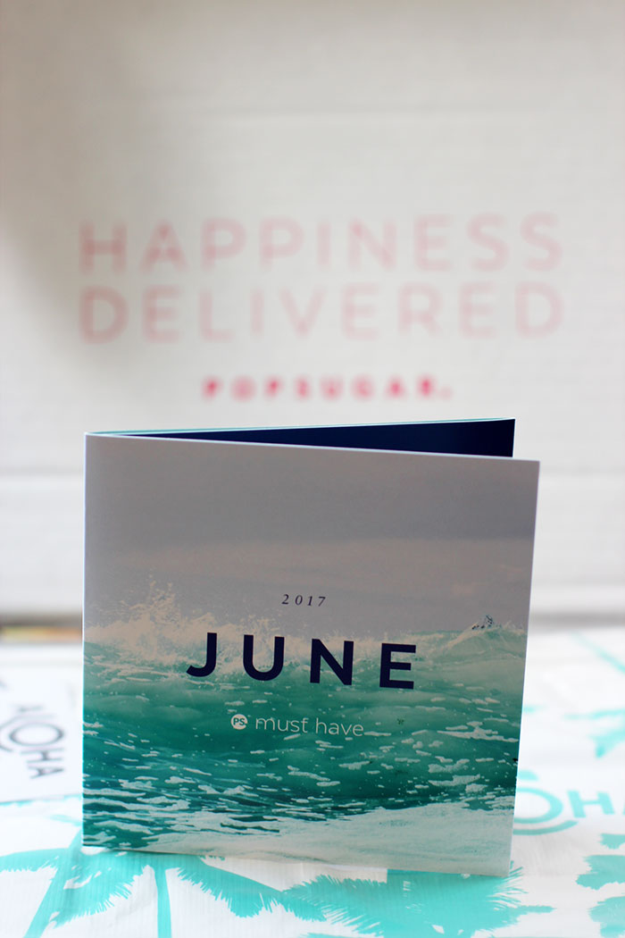 POPSUGAR #MUSTHAVEBOX JUNIO 2017