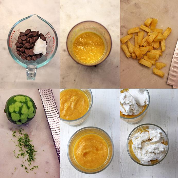 Piña Colada Parfait - Preparation