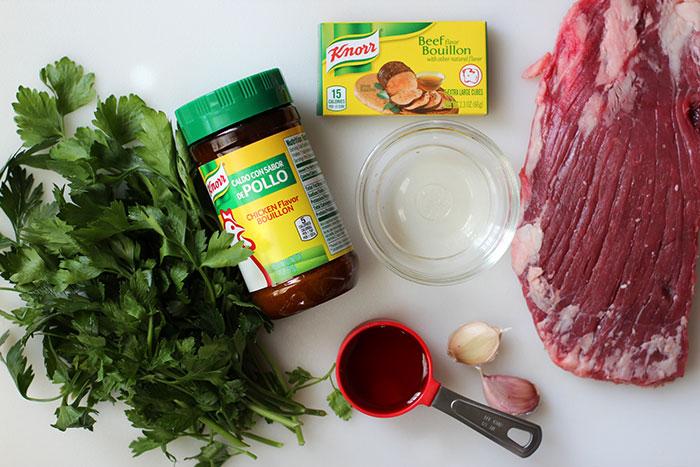 Crostinis de carne con salsa de Chimichurri - Ingredientes