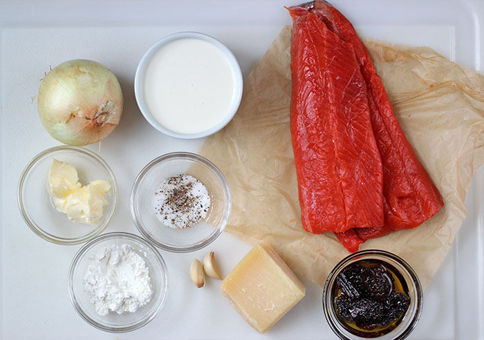 Salmon in cream sauce - Ingredients