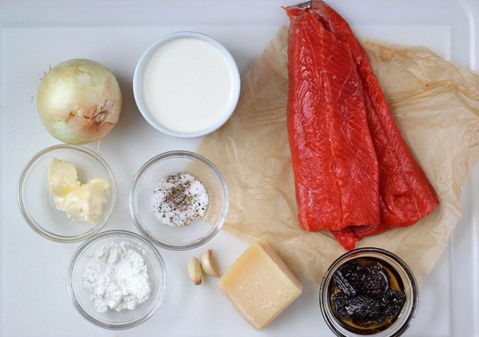 Salmón a la crema - Ingredientes