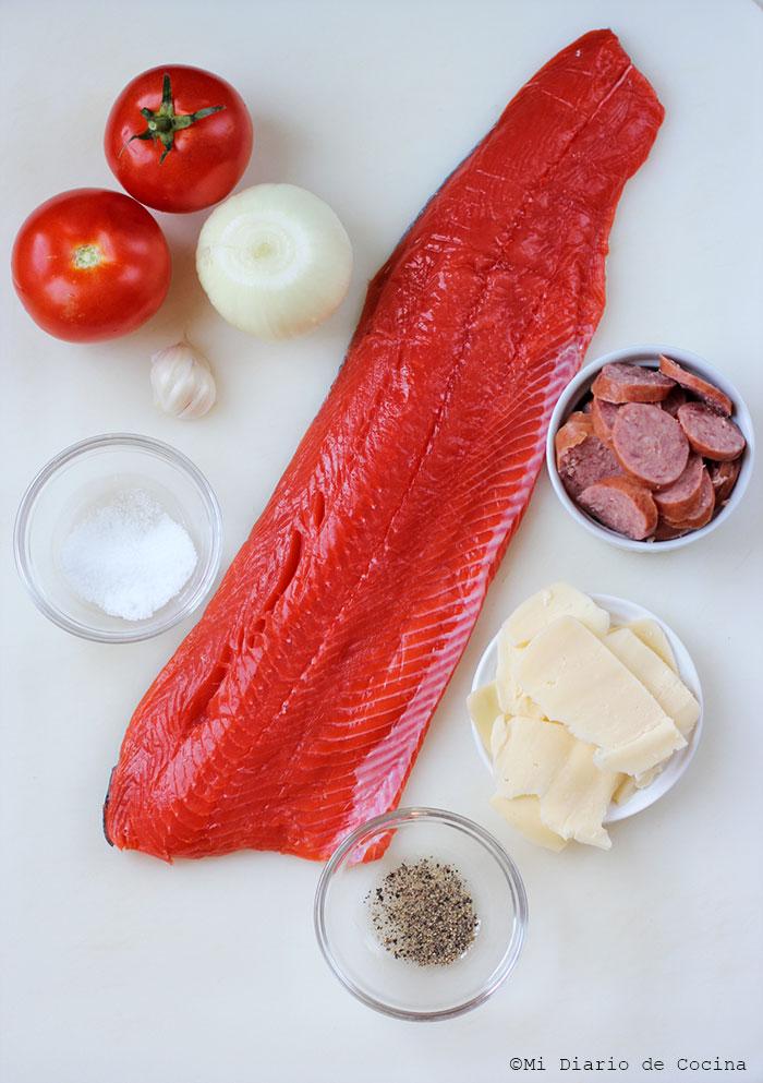 Cancato de salmón - Ingredientes