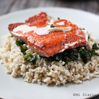 Salmon in cream sauce