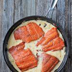 Salmon a la crema