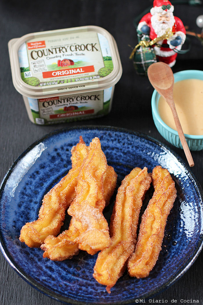 Churros con dulce de leche y lúcuma