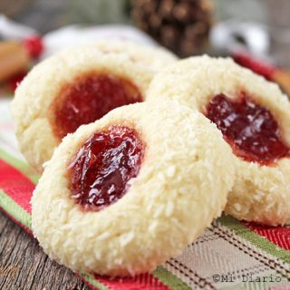 Coconut and jam cookies