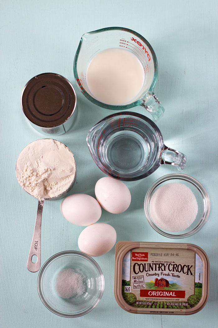 Churros con dulce de leche y lúcuma - Ingredientes