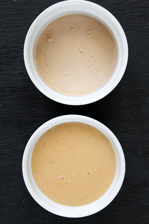 Churros con dulce de leche y lúcuma - Dip