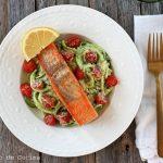 Alaska salmon with zucchini spaghetti
