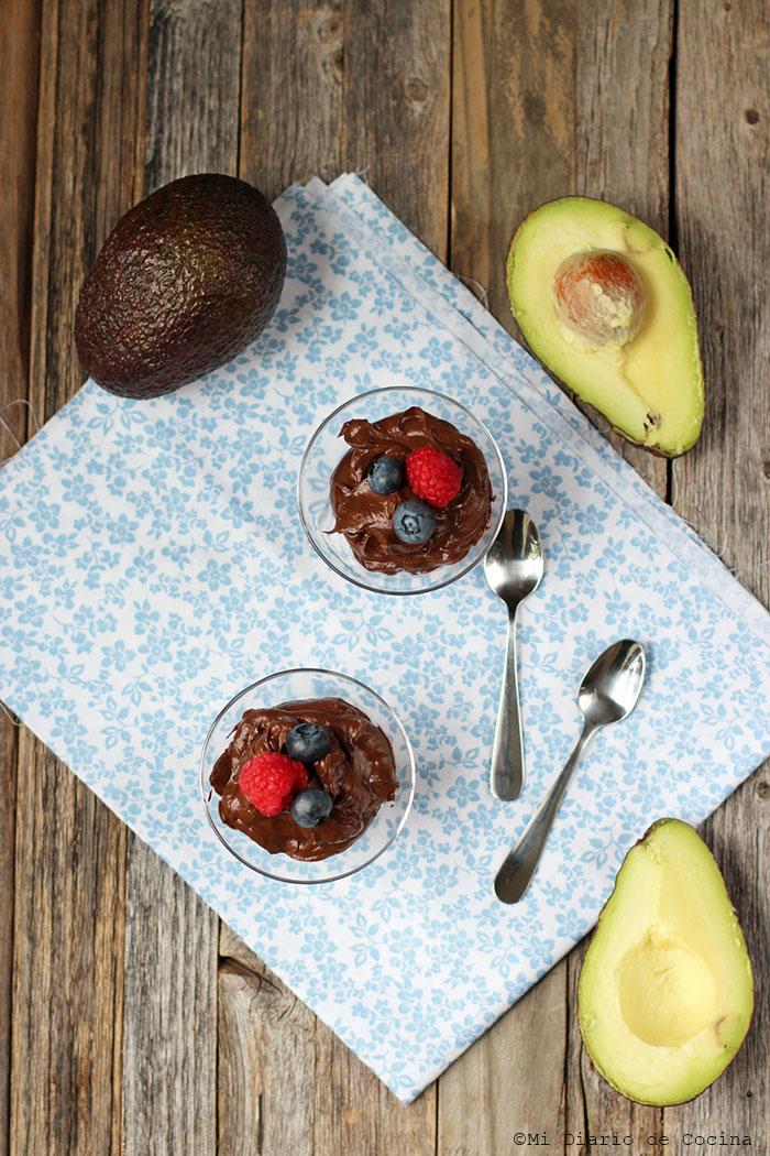 Mousse de chocolate y palta (aguacate) y las grasas saludables