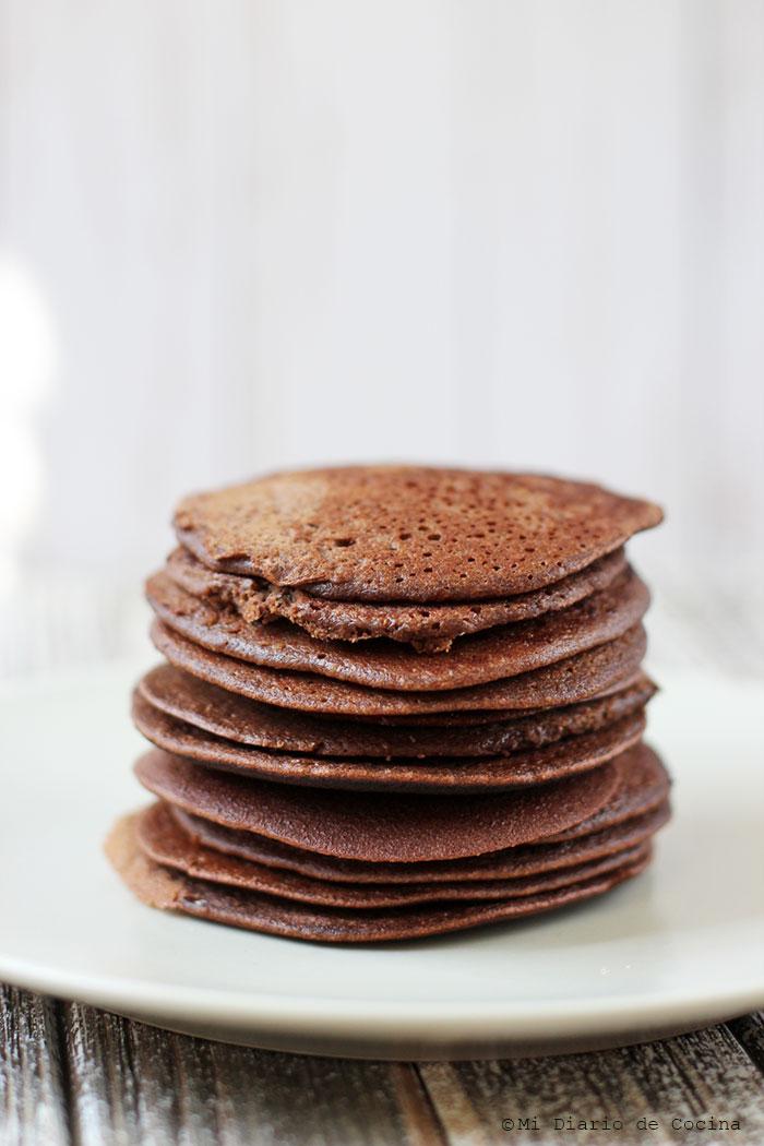Panqueques de chocolate y bananas